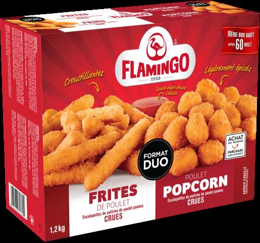 Combo frites de poulet & poulet popcorn épicé