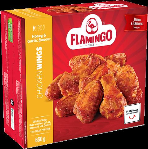 Honey & Garlic flavour chicken wings