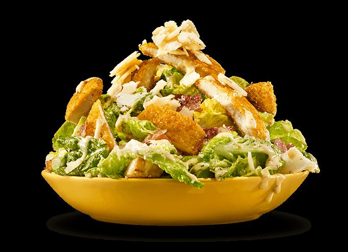 Salade césar au poulet panko parmesan