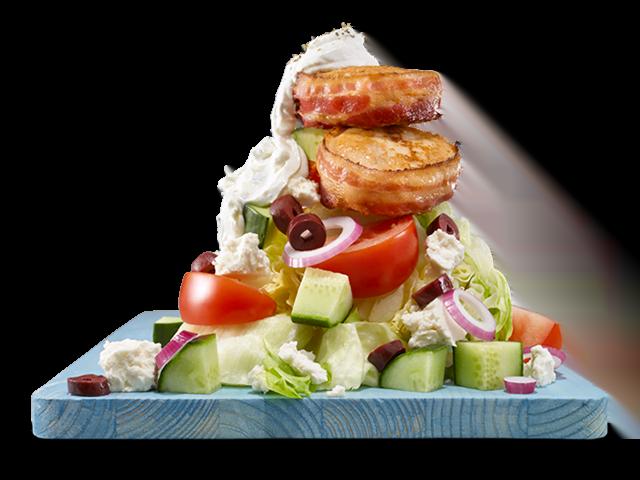 Salade grecque et tournedos de poulet