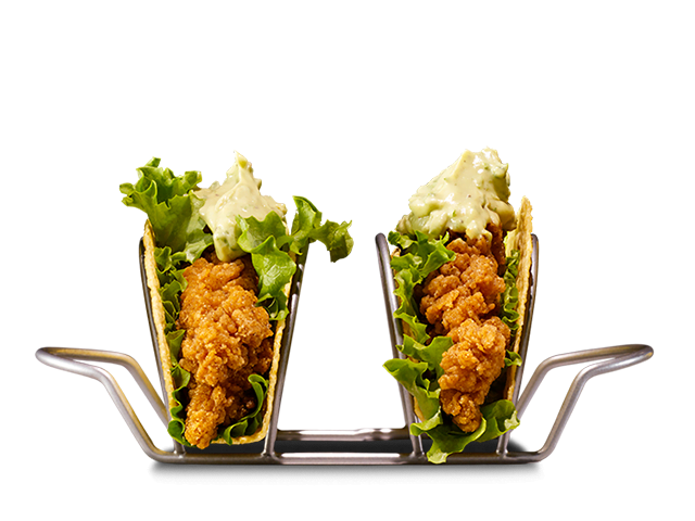 Crispy chicken southern style tacos