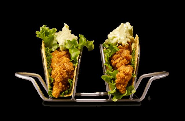 Tacos au poulet croustillant style poulet frit