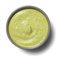 Pesto yogurt sauce