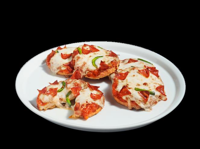 Burger de poulet pizza toute garnie